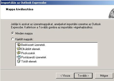 Outlook Express levelek visszatöltése