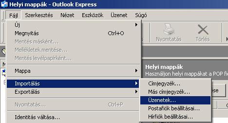 Levelek visszaállítása Outlook Express