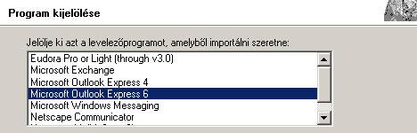 Outlook Express visszaállítása