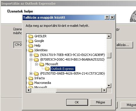 Outlook Express levelek visszaállítása