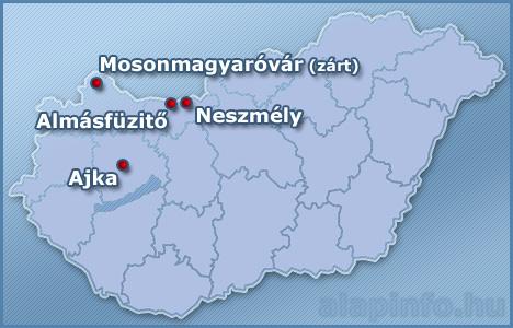 Vörösiszaptározók Magyarországon
